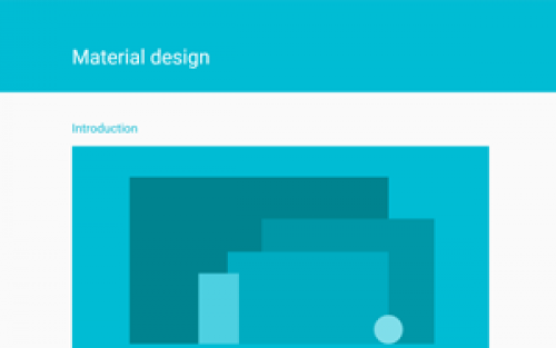 Material Design - guidelines for modern App UI design